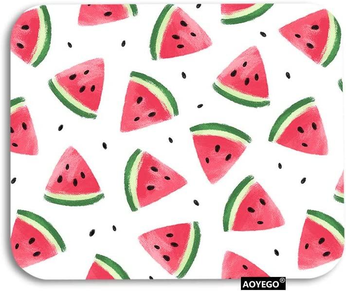 AOYEGO Watermelon Slice Mouse Pad Black Fruit Watercolor Summer Al sold Cheap bargain out.