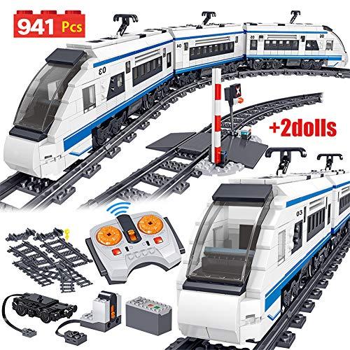 941 stks City Electric Harmony High-speed Rail Afstandsbediening Bouwstenen Train Track RC Technic Car Brick Toy voor Boy