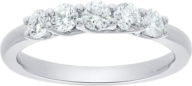 La Joya 1 High order 4-3 4 CT Max 86% OFF TW Diamond Weddin Certified Stone 5 Grown Lab