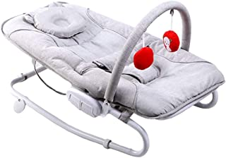 TONGSH Rocker Baby Bouncer Chair Rocking Portable Soothing Vibration New-Born Bouncer Comfort Toy