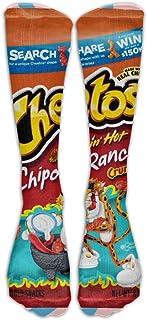 GUYEUD 15.74in Unisex Cheetos Fashion Design High Socks Leg Warmers Football Aseball For Men Women