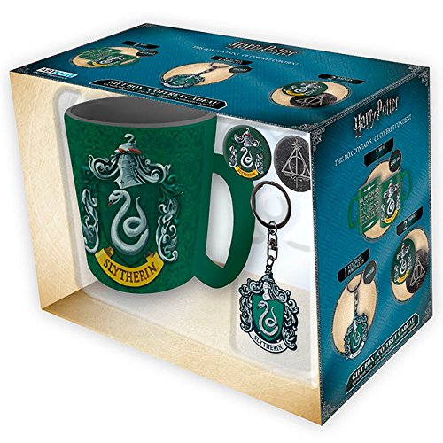 ABYstyle - Set de Regalo de Harry Potter, Taza + Llavero + 2 imperdibles