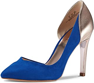 JENN ARDOR Stiletto High Heel Pointed Closed Toe Slip On Dress Party Wedding Evening Pumps Shoes for Women