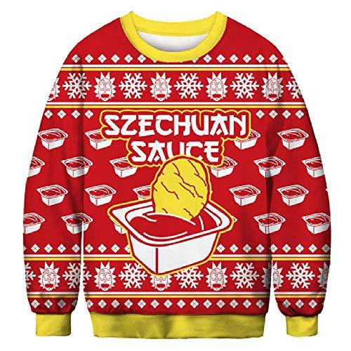 LILIZHAN Kerst Jumper Snowman Herten Nieuwe Stanta Claus Sweater Lelijke Kerst Truien Tops Grappige Mannen Vrouwen Truien