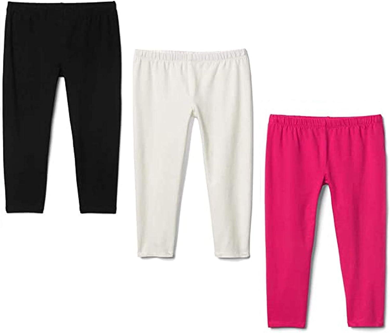 Flaryzone 2T-6T Toddler/Little Girls' Basic Cotton Capri Leggings (2-Packed/3-Packed)