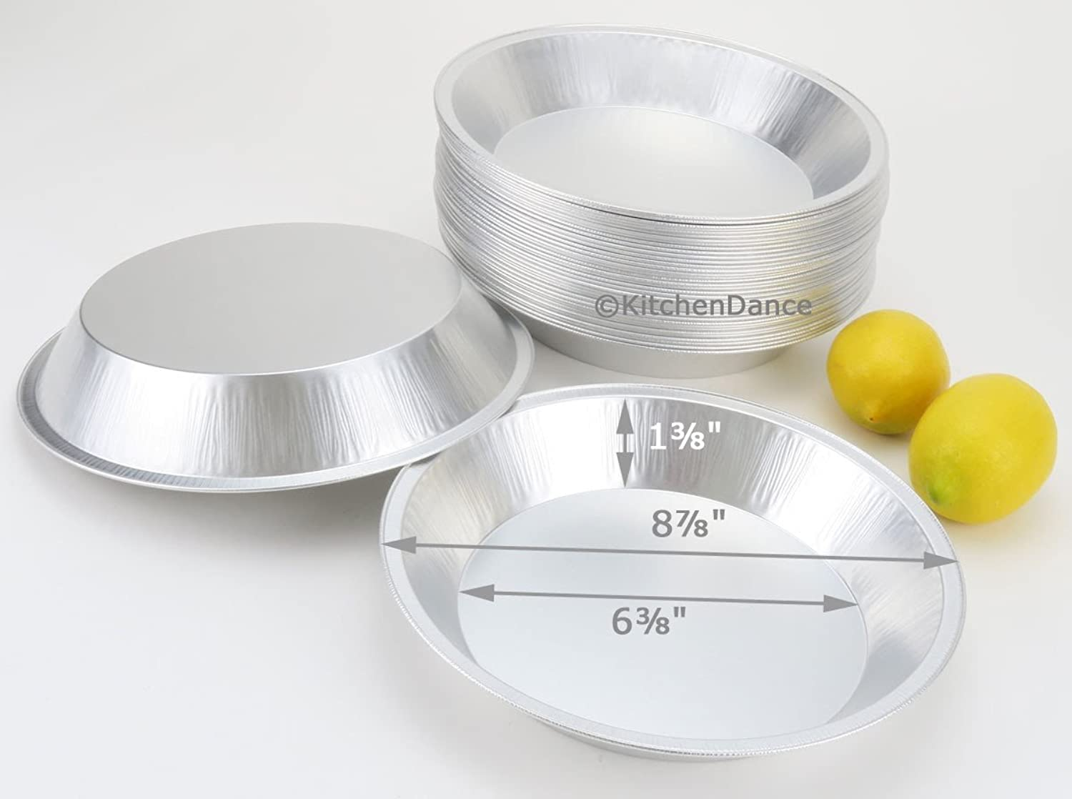 9  Heavy Duty Foil Pie Pans- 1 1 2  Deep- Disposable or Reusable  509 (100)