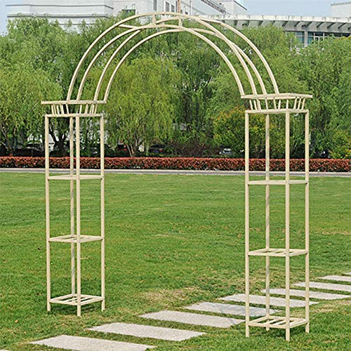 Garden Arch, Ornamental Garden Gate Wrought Iron Stylish Practical Stable Durable Outdoor Rose Arch Archway
