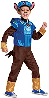 Disguise boys Chase Costume Hat and Jumpsuit for Boys, Deluxe Paw Patrol Movie Character Outfit With Badge Costume (pack o...
