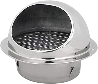 Stainless Steel Duct Cover 100mm / 150mm Diameter Round Wall Ceiling Bull Nosed External Air Vent for Office Kitchen Bathroom Ventilation (100mm)