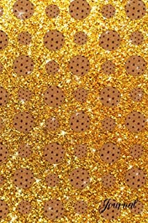 Journal: Faux yellow glitter chocolate chip cookies notebook