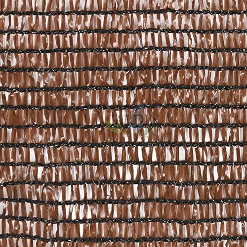 MALLA de SOMBREO OCULTACION MARRÓN para terrazas y jardines (1,5 x 50 m)