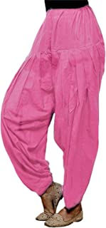 Cotton Kingdom Soft Cotton Women's Maternity Patiala Salwar With Pockets In Baby Pink (Size XS-10XL)