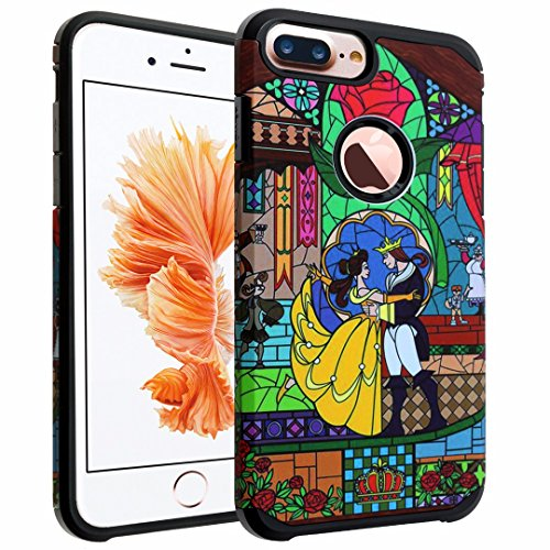 iPhone 7 Plus Case, DURARMOR Vintage Beauty and the Beast Case Hybrid Bumper ShockProof Slim Fit Armor Air Cushion Defender Drop Protection Cover for iPhone 7 Plus 5.5' Beauty & the Beast