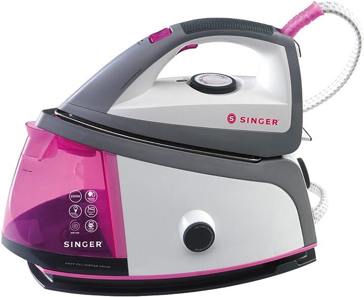Ferro da stiro a caldaia singer shg 6203 ceramica rosa 50x30x20 cm SHG 6203