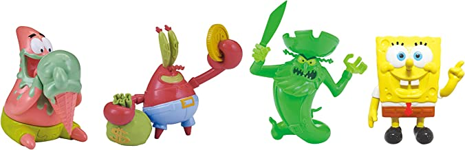 SpongeBob SquarePants - F.U.N. Friends Pack 4-Pack- 2'' Spongebob, Patrick, Mr. Krabs, & Flying Dutchman