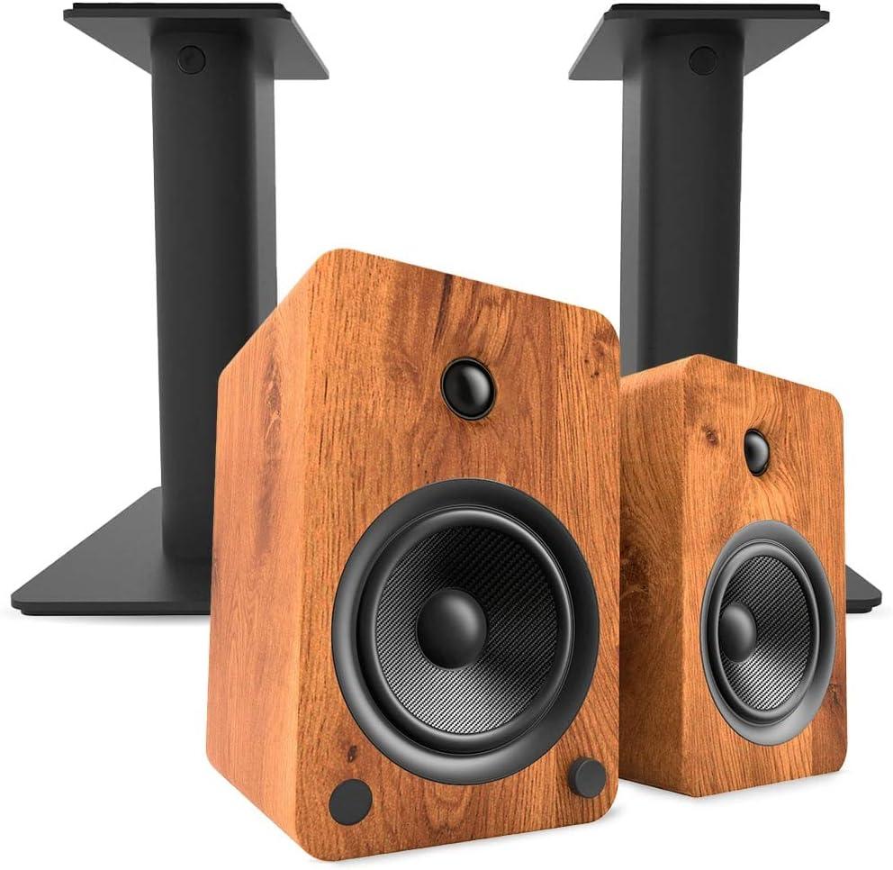 Kanto YU6 Powered favorite Bookshelf Speakers with Bluetooth wit 100% quality warranty Walnut