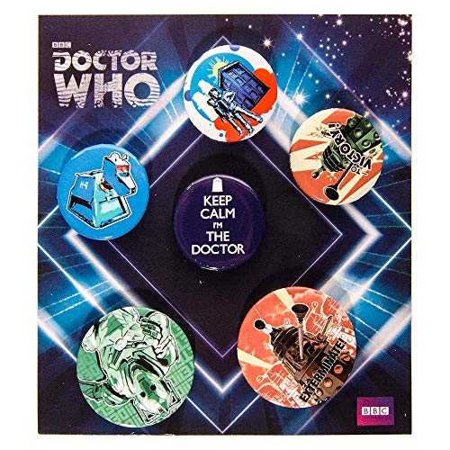 GB eye Doctor WHO Badge Pack 4 x 25mm 2x38MM