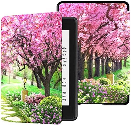Custodia per il nuovissimo Kindle Paperwhite Cover in tessuto resistente all acqua (10th Generation, 2018 Release), Pink Tree Wallpaper Bella custodia per tablet con foresta