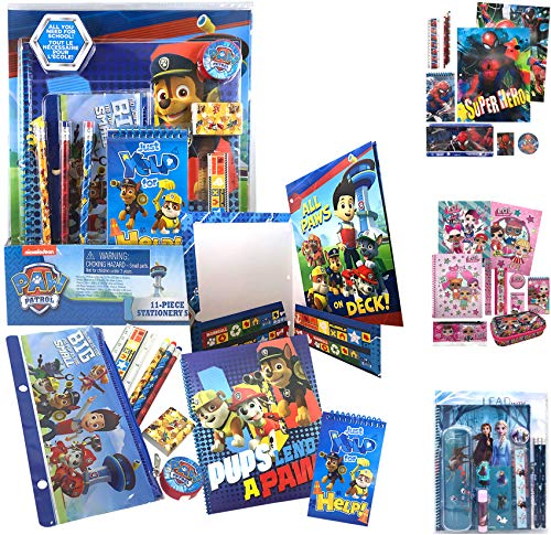 Paw Patrol Giant All You Need for School Stationery Gifts Set - Pencils Case Notebook Eraser Ruler, Back to The Pre School Kindergarten Education Goodies Supplies Materials Birthday for Kids Boys