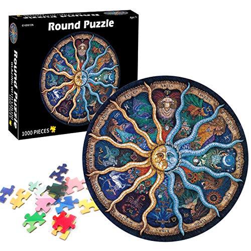 TaimeiMao Runde Puzzle 1000 Teile,Erwachsenenpuzzle,Puzzle Pädagogisches,Puzzle Kreative Erwachsene,Legespiel Puzzle,Puzzle Stressfreisetzung Spielzeug