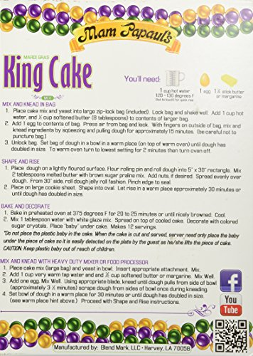 Mam Papaul's King Cake Mix with Praline Filling