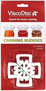 ViscoDisc Canning Buddies- Regular Mouth Mason Jar Canning Inserts, 12pk- Helps Keep Your Pickled Fruits and Veggies Subme...