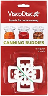 ViscoDisc Canning Buddies- Regular Mouth Mason Jar Canning Inserts, 12pk- Helps Keep Your Pickled Fruits and Veggies Submerged Under the Brine!