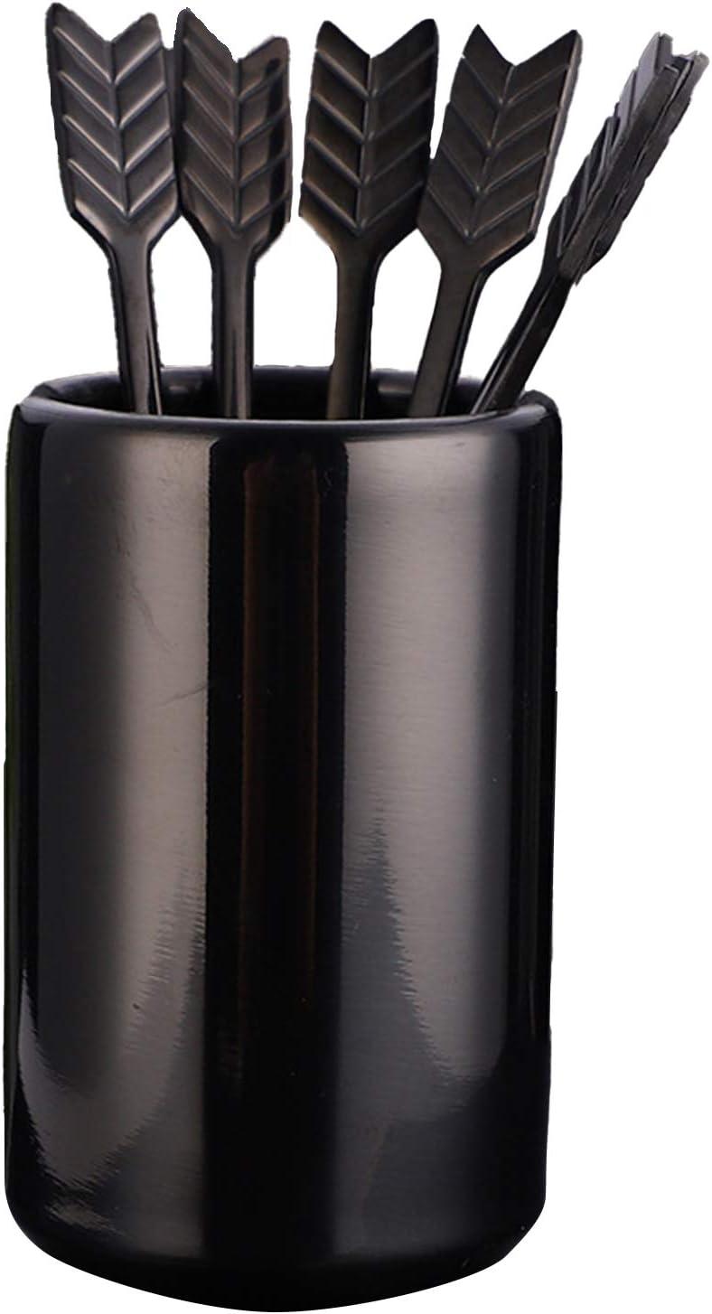 5'' 5Pcs Stainless Steel Luxury goods Coffee Stir with Holder Sticks Stirrers Rare