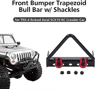 CHOULI Aluminum Alloy Front Bumper Contains LED Lights for Traxxas TRX-4 Trx4 T4 Black
