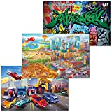 GREAT ART 3er Set XXL Poster Kinder Motive – Big City –