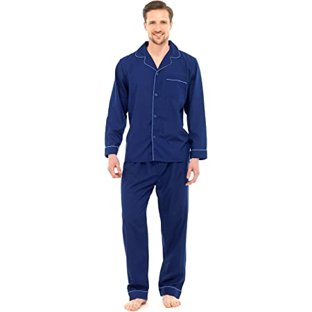 Strong Souls Mens Pyjamas Traditional 2 Piece Pjs