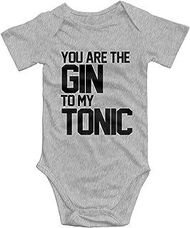Promini Promini Baby-Einteiler mit Aufschrift You are the Gin to My Tonic, Baumwolle, kurzärmelig, 3–6 Monate, ZI5587
