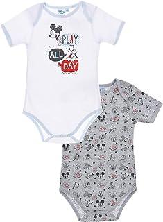 c083394e14e04 Disney Mickey Baby Boys Bodysuit Cotton Pack of 2