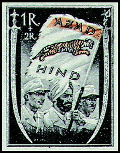 Goldhahn Deutsche Besetzung Nationales Indien Nr. VII b B postfrisch  Briefmarken für Sammler
