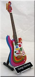 GEORGE HARRISON Miniature Guitar Rocky Beatles w/name tag by ARTSTUDIO35