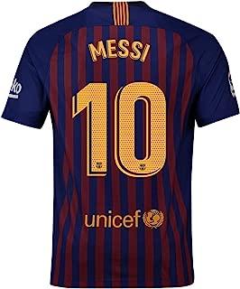Messi 2018 2019 Season # 10 Mens Home Soccer Jerseys T-Shirts Blue