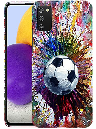 Glisten Samsung Galaxy A02S 5G Case -Vintage Color Soccer Design Printed Slim Profile Cute Plastic Hard Snap on Protective Designer Back Case/Cover for Samsung Galaxy A02S 5G.