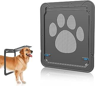 UHeng Magnetic Automatic Lock/Lockable Pet Screen Door Dog Gate Way Pet Door for Screens