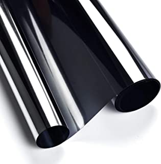 ConCus-T Window Tinted Film Heat Control Anti UV One Way Privacy Solar Film Home Office Security Static Cling No Glue Easy...
