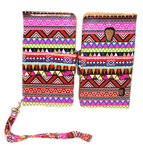 Tribal Design Wallet Leather Case for LG Optimus F6 D500 / MS500 with Kickstand