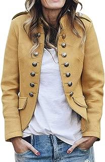 JESPER Womens Loose Gradient Solid Knit Long Shawl Cardigan Retro Long Sleeve Coat Khaki
