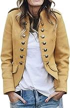 Fainosmny Women Bomber Jacket Short Blazers Suits Coats Cardigan Sweater Retro Button Pockets Coat Outerwear