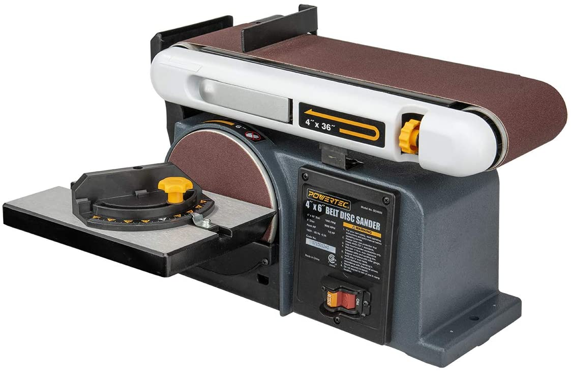 POWERTEC BD4600 Belt Disc Sander For Woodworking
