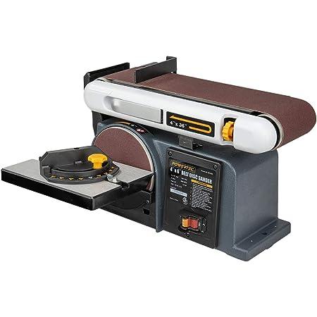 POWERTEC BD4600 Belt Disc Sander For Woodworking   4 In. x 36 in. Belt Sander with 6 In. Sanding Disc