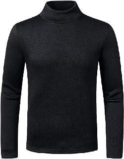 HEFASDM Men's Turtleneck Warm Knitwear Fall Winter Blouse T-shirt Tops