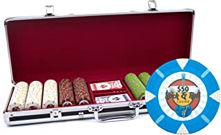 Claysmith Gaming 500-Count 'Rock & Roll' Poker Chip Set in Aluminum Case, 13.5gm, Black