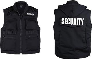 Mens Womens Unisex Army Style Uniform Security Vest - Black -Size S, M,L,XL,2XL