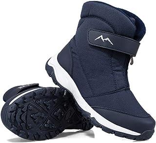DYHQQ Bottes de Neige Chaudes en Plein air pour Femmes Hommes Chaussures de Doublure en Fourrure d'hiver Anti-dérapant lég...