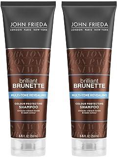 John Frieda Brilliant Brunette Multi-Tone Revealing Moisturizing Shampoo, 8.45 Ounce (Pack of 2)
