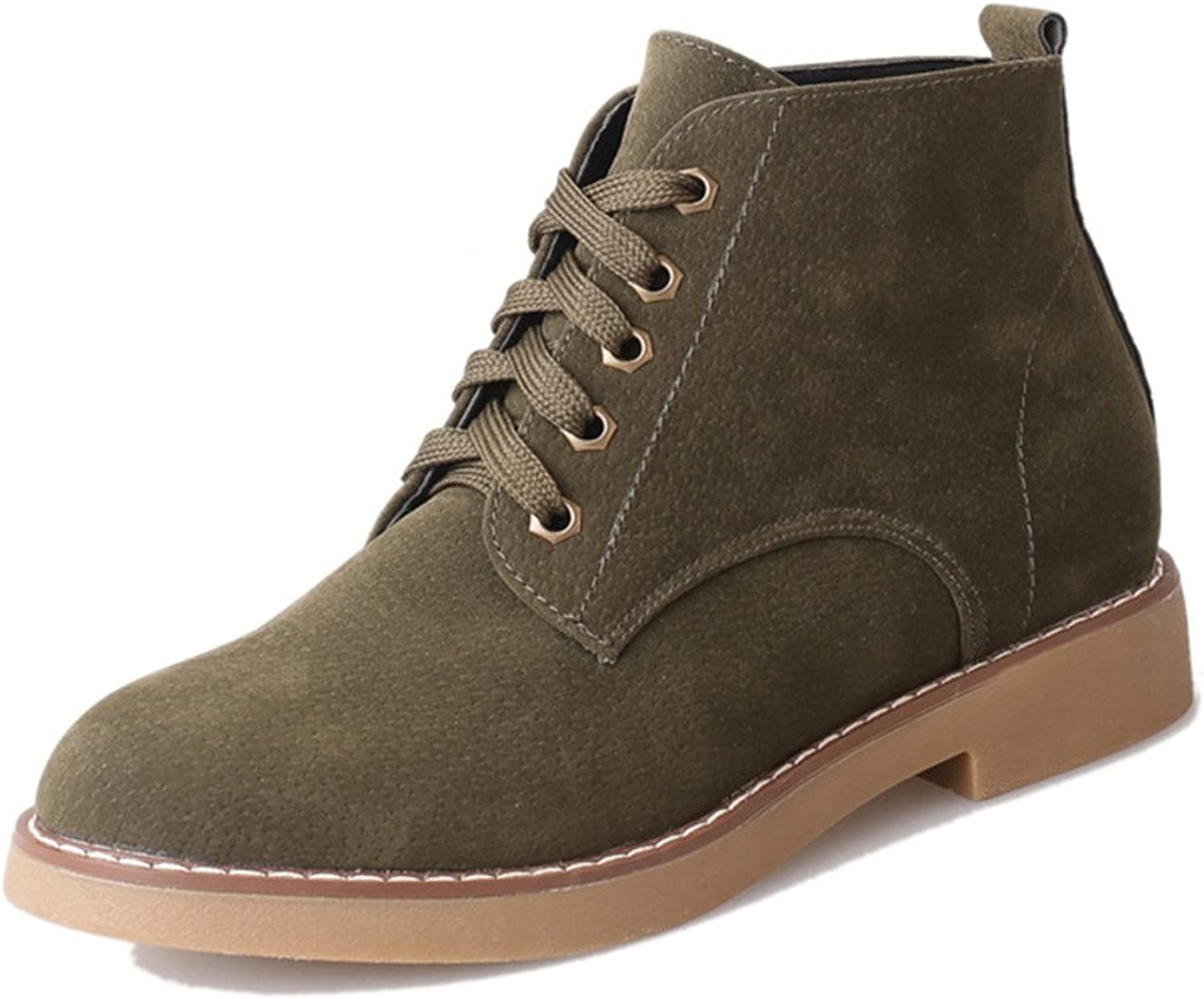 Huhuj England Vintage Short Boots for Fall Winter Students Flock with a Short Barrel and Bare Boots High Boots Lady Martin Boots